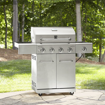 Kenmore 4 Burner All Stainless Steel Gas Grill with searing side burner Silver