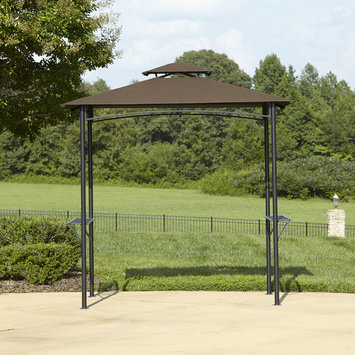 BBQ Pro Grill gazebo with folding shelves and fabric canopy - YEH HUNG PLASTIC CO, LTD.