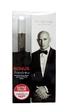 Pitbull Woman 3.4oz with Travolo Refillable Travel Spray Bonus Pack - Quality King
