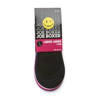 Joe Boxer Women's 4-Pairs No-Show Sock Liners
