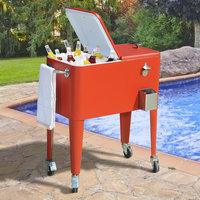 60Qt Red Cooler LBC153PST by Sunjoy Industries