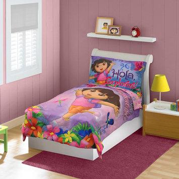 Nickelodeon Dora the Explorer Toddler Girl's 4 Piece Bedding Set - STEVENS BABY BOOM LTD.