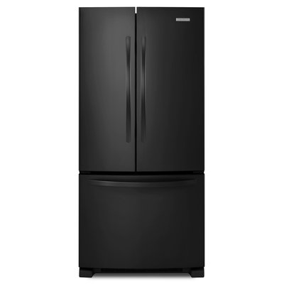 KitchenAid Architect Series II KBFS22ECWH 21.7 cu. ft. French Door Refrigerator with Produce Preserver, Interior Water Dispenser, Slide-Away Split Shelf, Adjustable Glass Shelves and Energy Star Qualified: White
