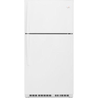 Whirlpool WRT541SZDW 21.3 Cu. Ft. White Counter Depth Top Freezer Refrigerator - Energy Star