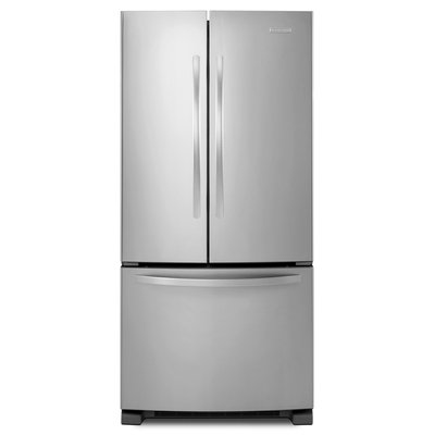 KitchenAid Architect Series II KBFS22ECMS 21.7 cu. ft. French Door Refrigerator with Produce Preserver, Interior Water Dispenser, Slide-Away Split Shelf, Adjustable Glass Shelves and Energy Star Qualified: Stainless Steel