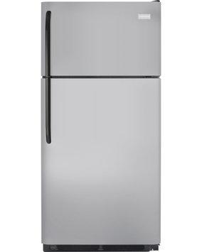 Frigidaire Refrigerator. 18 cu. ft. Top Freezer Refrigerator in Silver Mist FFHT1831QM