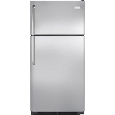 Frigidaire Refrigerator. 18 cu. ft. Top Freezer Refrigerator in Stainless Steel FFHT1831QS