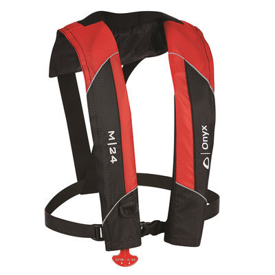 Absolute Outdoor 13100010000415 M-24 Red Man Inflate Life Jacket