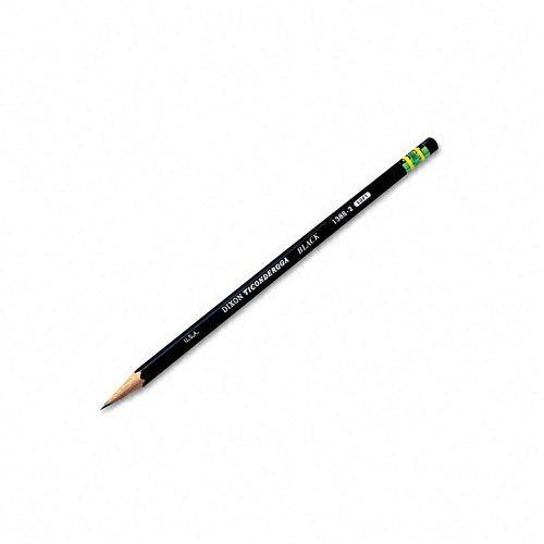 Dixon Ticonderoga Pencils, #2 Soft Lead, Black, Dozen