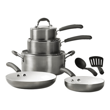 Bella 10 piece Cookware Set Silver - TABLETOPS UNLIMITED, INC.