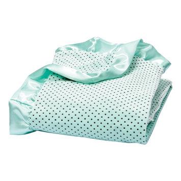 Trend Lab Llc Trend Lab Mint Polka Dot Velour Blanket