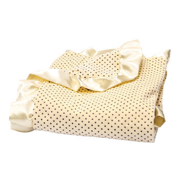 Trend Lab Llc Trend Lab Banana Cream Polka Dot Velour Blanket