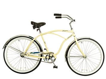 Taiwan New Idea Service Enter. Titan Docksider Single Speed Men's Beach Cruiser Bicycle, 26-Inch Wheels, 18-Inch Frame, Glossy Cream Color