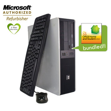 Flush Enterprises DC5750 Refurbished Desktop AMD Athlon64 X2 2.4Ghz Dual Core CPU 2GB,160GB, DVD, Win7HP Microsoft Office 2010 Home and Student