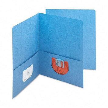 Smead Two-Pocket Portfolio, Embossed Leather Grain Heavy Paper, 25/Box