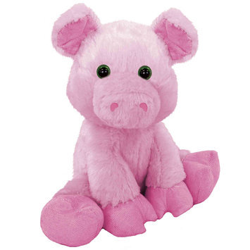 First & Main, Inc. First & Main 7813 7 in. Sitting Floppy Friends Pig Plush Toy