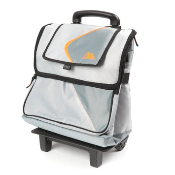 California Innovations 35 Can Rolling Cooler - Gray/Orange
