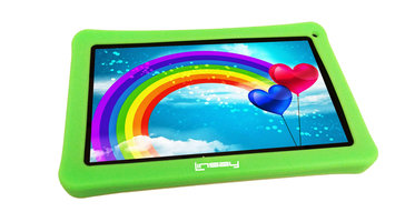 Caldo International, Inc. NEW LINSAY 10.1 INCH F-10XHD4KIDS with Green Defender Case 1024x600HD 1GB 8GB Newest Android 4.4 KIT KAT