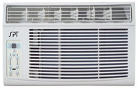 Sunpentown WA8022S 8000 BTU Window Air Conditioner with 3 Fan Speeds Top Air Discharge Electronic Controls with Digital Display Washable Air Filter Remote Control and