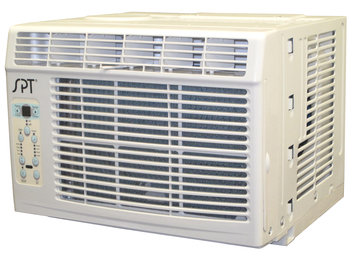 Sunpentown WA6022S 6000 BTU Window Air Conditioner with 3 Fan Speeds Top Air Discharge Electronic Controls with Digital Display Washable Air Filter Remote Control and