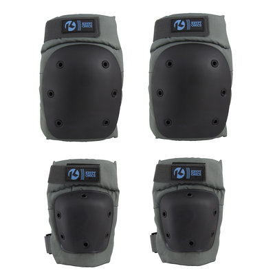 Variflex, Inc. Kryptonics Pro Large/X-Large Knee & Elbow Pad Set - Battleship