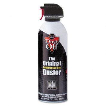 Dust-Off Disposable Compressed Gas Duster with Bitterant, 10oz Can
