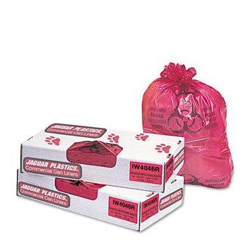 UNISAN IW2423R Health Care bio-hazard Printed Liners, 1.3mil, 24 X 23, Red, 500/carton