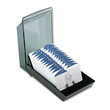 Rolodex Covered Tray Card File - Black