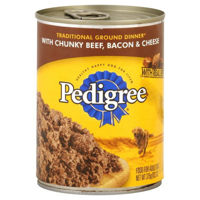 Pedigree® Food for Adult Dogs, with Chunky Beef, Bacon and Cheese