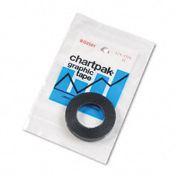 Chartpak Glossy Black Graphic Chart Tape