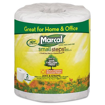 Marcal Bathroom Tissue, 300 Sheets/Roll, 48 Rolls/Carton
