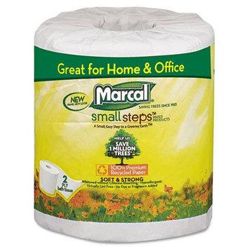 Marcal Bathroom Tissue, 300 Sheets/Roll, 48 Rolls/Carton