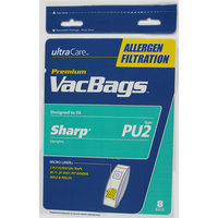 UltraCare Sharp Type PU 2 Allergen Filtration Vacuum Bags - HOME CARE INDUSTRIES, INC.