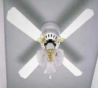 Essential Home 42in White & Polished Brass Hugger Ceiling Fan