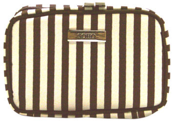 Markwins Beauty Brown Stripe Cosmetic Bag - Small