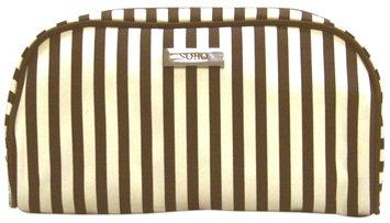 Markwins Beauty Brown Stripe Cosmetic Bag - Medium