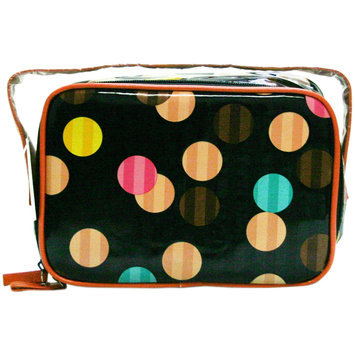 Markwins Beauty Cylinder Spheres Cosmetic Train Case