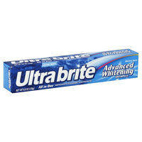Ultra Brite Toothpaste, Anticavity Fluoride, Advanced Whitening, Clean Mint, 6 oz (170 g)