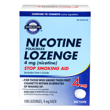 Kmart Corporation American Fare Stop Smoking Lozenge Mint 4 mg 108 Count