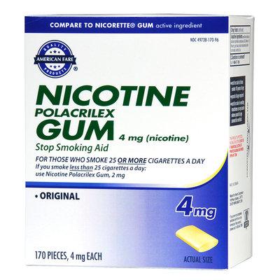American Fare Stop Smoking Gum Original 4 mg 170 Count