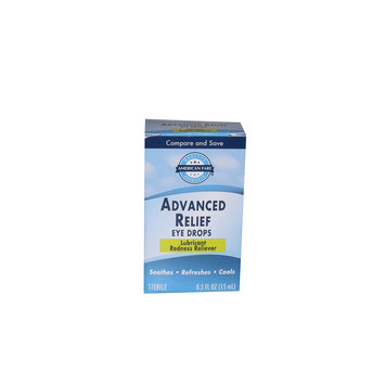 American Fare Advanced Relief Eye Drops .5 Fluid Ounce