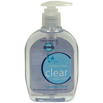 American Fare Antibacterial Clear Hand Soap Fresh Scent 7.5 Fluid Ounce Pump Top - KMART CORPORATION