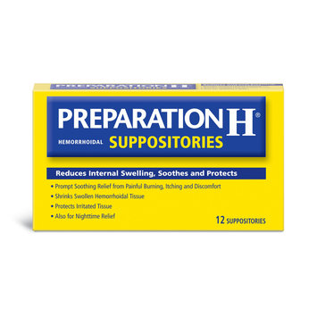 Preparation H Hemorridal Suppositories 12 Count - ROBB'S RIBBS INC.