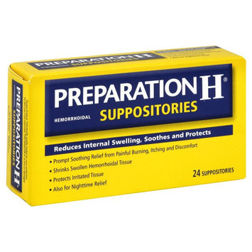 Preparation H Hemorrhoidal Suppositories, 24 suppositories - WYETH CONSUMER HEALTHCARE