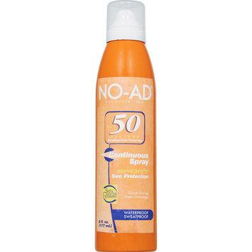 Solar Suntan Products Corp Sport Sun Protection Aerosol Continuous Spray SPF 50 8 Fluid Ounce Can