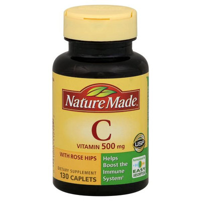 Nature Made Vitamin C, 500 mg, Caplets, 130 caplets - Nature Made