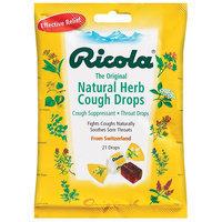 Ricola Natural Herb Cough Suppressant Throat Drops Original 21 Count Bag