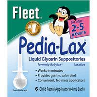Pedia Lax Liquid Glycerin Suppositories 4 ml Each 6 Child Rectal Applicators - C.B. FLEET CO, INC.