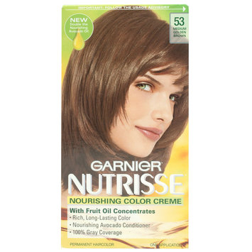Permanent Haircolor, Light Natural Brown 60, 1 application - Nutrisse