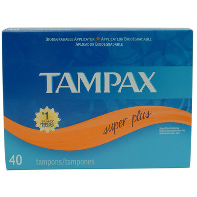 Tampax SUPER 40 CT W/BNS 8CT WIPE - TAMBRANDS INC.